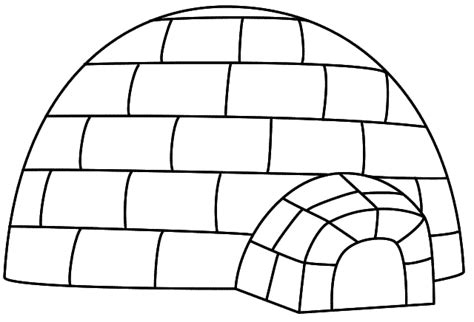 igloo coloring page letter i coloring page alphabet