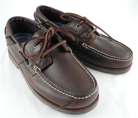 boat shoes and loafers mens timberland atlantic edge brown leather deck boat