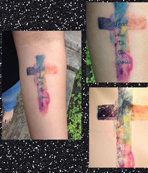 colorful cross tattoos watercolor cross leadmetothecross watercolor