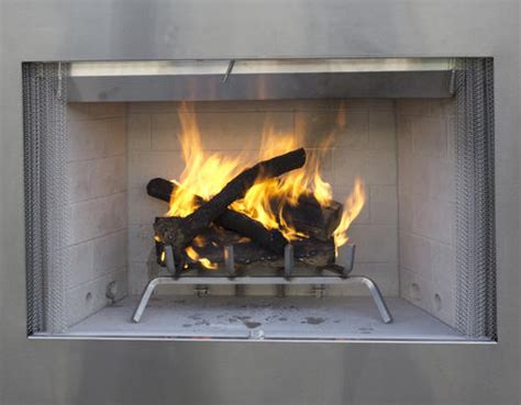 Stainless Steel Fireplace Inserts by 42 Quot Stainless Steel Wood Burning Outdoor Fireplace Insert