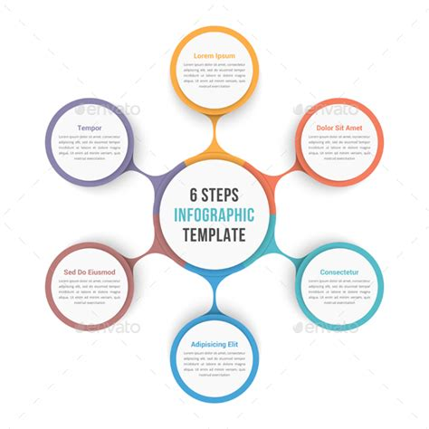 Circle Infographic Template With Six Elements By Human Graphicriver Circle Infographic Template