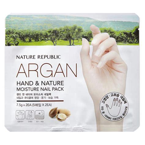 Nail Nature Republic Original Korea nature republic and nature argan moisture nail pack