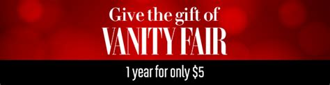 Vanity Fair Gift Subscription by Vanity Fair Magazine Subscription