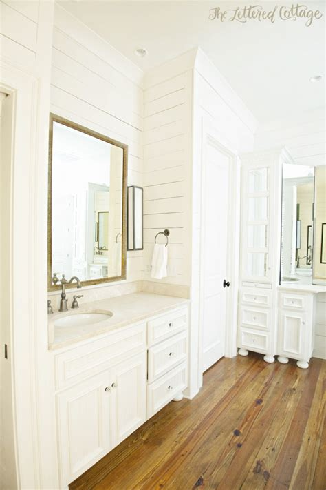 Bathroom Paneling Ideas kathy s wood walled bathroom the lettered cottage