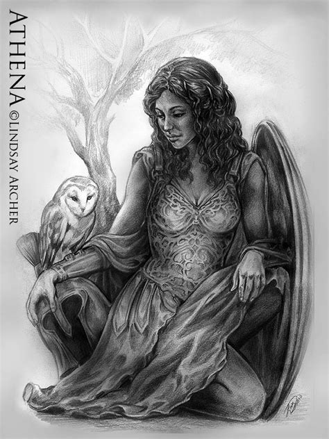 goddess of wisdom athena goddess of wisdom mythical artwork by artist