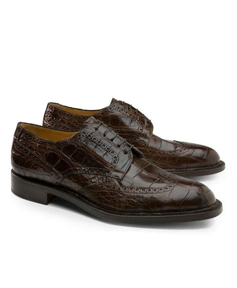 brothers shoes brothers genuine american alligator lace up