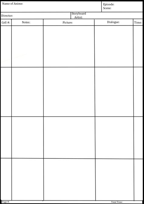 anime storyboard template anime storyboard template by cassyhattori63 on deviantart