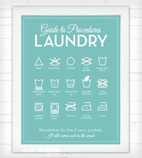 guide room guide to procedures laundry room print secret code laundry symbols and tags