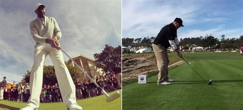 swing by swing pebble celebrities show off at pebble beach