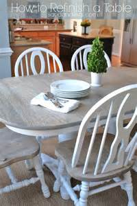 Refinishing A Kitchen Table How To Refinish A Table Sand And Sisal