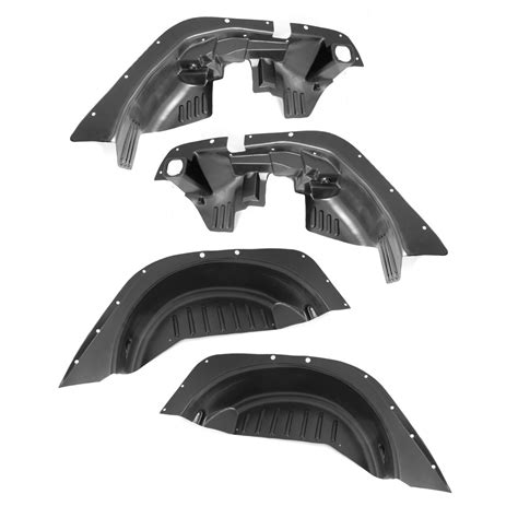 rugged wheel well liners rugged ridge 11620 50 inner fender liner kit fits 07 16 wrangler jk ebay