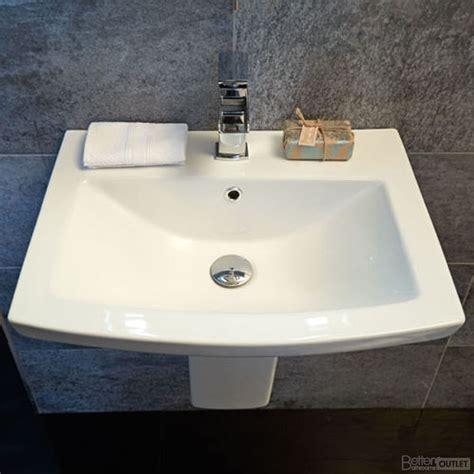 Modern Basins Bathrooms Bathroom Sinks Modern Square Basin Ceramic Bathroom Semi Pedestal Basin Ebay