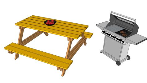 picnic table plans free free outdoor plans diy shed