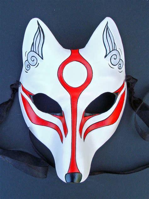 Kitsune Mask Papercraft - mascaras japonesas taringa