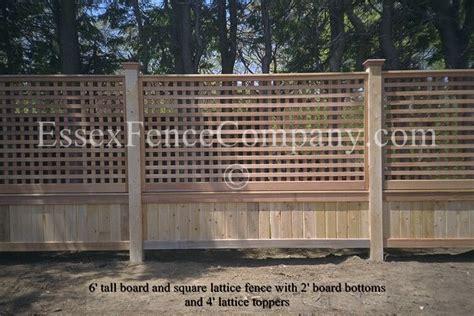 Design For Lattice Fence Ideas Board And Lattice Fences Essex Fence Company