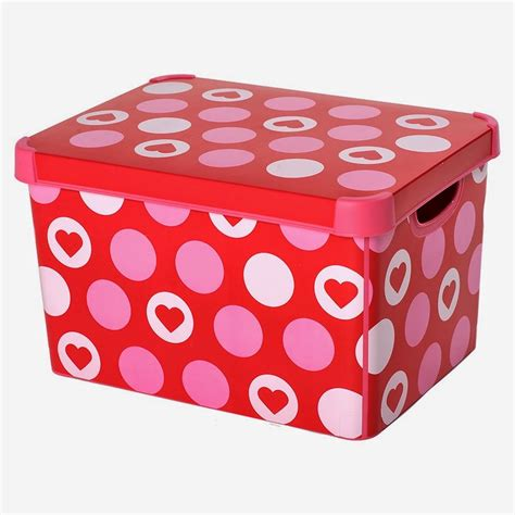 decorative cardboard storage boxes home organization breathtaking picture of rectangular pink and red heart