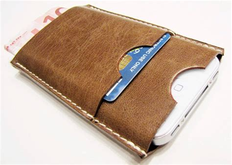 Credit Card Iphone Stand Template iphone 4 leather with two slots for credit