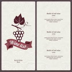 free wine menu template dise 241 os de menus de restaurantes buscar con