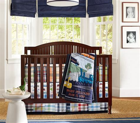 Pottery Barn Madras Crib Bedding Madras Brody Nursery Bedding Set Pottery Barn