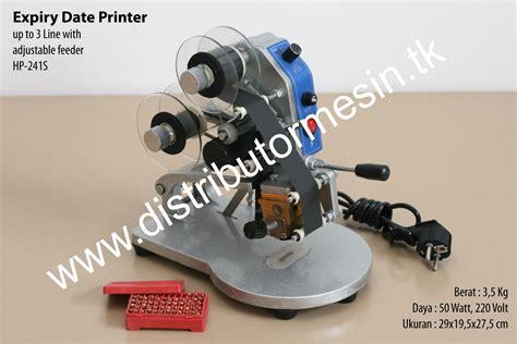 Stempel Tanggal Kadaluarsa Botol Plastik mesin cetak tanggal kadaluarsa distributor mesin