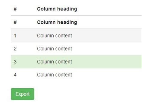 Export Html Table To Excel by Export Html Table To Excel Spreadsheet Using Jquery Table2excel Free Jquery Plugins