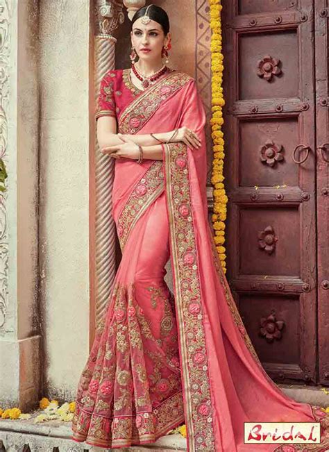 bridal wedding and party wear saree