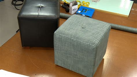 reupholster ottoman yourself how to recover an ottoman youtube