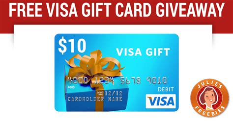 10 Visa Gift Card - win a 10 giftcard or caroleandellie com