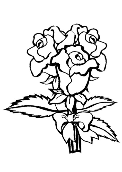 coloring page roses coloring pages for kids rose coloring pages