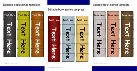 editable book spine templates sb6235 sparklebox