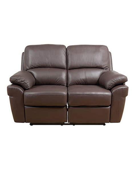 Milan Leather Recliner 2 Seater Sofa Oxendales Milan Leather Sofa