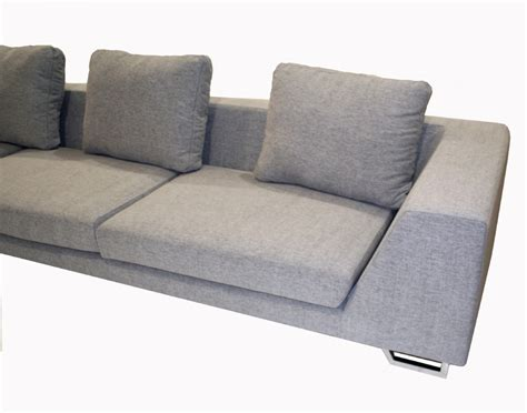 twill sectional wholesale interiors 2 piece twill sofa sectional grey