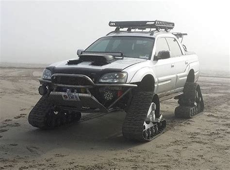 subaru baja lifted subaru baja on tracks subaru pinterest subaru baja