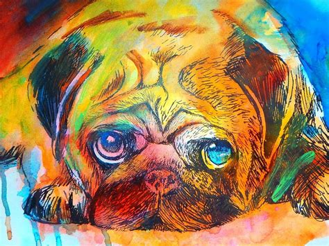 pug painting pop pug painting by kaufmann