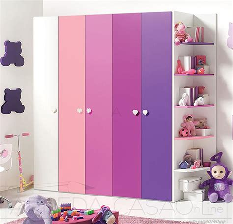 armadio bambina armadio 5 ante libreria cameretta bambini gt0048arm ebay
