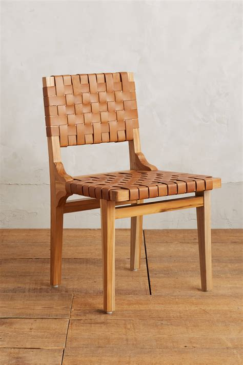 Anthropologie Dining Chairs Leather Loom Dining Chair Anthropologie
