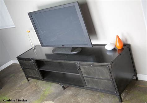 industrial media console vintage industrial media console tv stand credenza custom