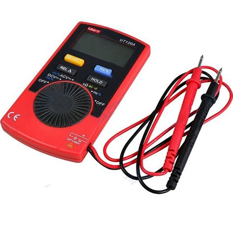 Pocket Digital Multitester Uni T Ut 120a With Carrying Uni T Ut120a Slim Meter Pocket Handheld Digital Multimeter Dc Ac Voltage Resistance
