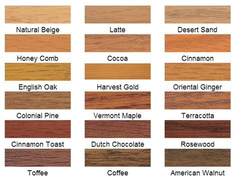 wood stain color palette images