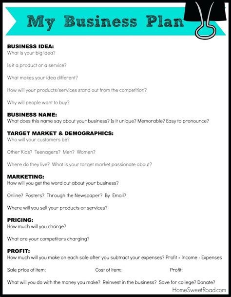 Simple Business Plan Template Fast Business Plan Template