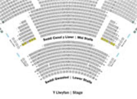 millennium centre seating plan maps and seating plans