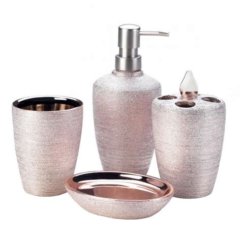 rose gold bathroom accessories wholesale rose golden shimmer bath accessories bath