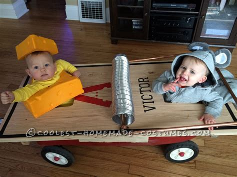 cutest infant  toddler mouse trap costume twin