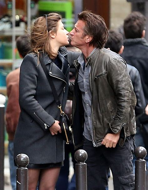 adele exarchopoulos jeremie laheurte split sean penn kisses adele exarchopoulos goodbye after lunch