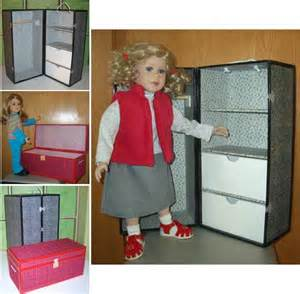 make your own doll trunk wardrobe trunk pattern pdf