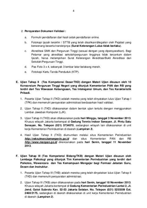 Surat Keterangan Tidak Dilakukan Dokumen Akreditasi by Cpns Perindustrian 2013