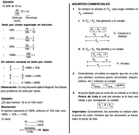 preguntas de matematicas en examen de admision porcentajes problemas resueltos preguntas tipo examen