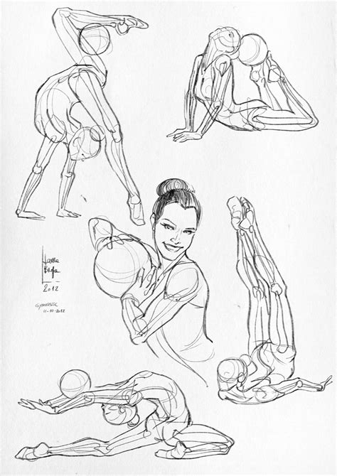 Sketches Poses by Braga Anatomical Studies And Sketches