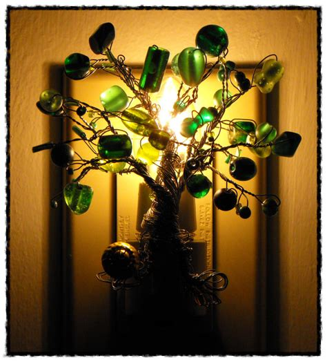 Dollar Tree Lights make a beaded tree light dollar store crafts
