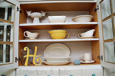 Kitchen Cabinet Shelf Paper 8 Low Cost Diy Ways To Give Your Kitchen Cabinets A Makeover